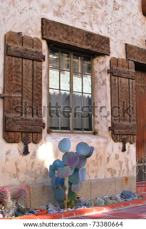 Beautiful european spanish style architectural stone house for Spanish style window shutters