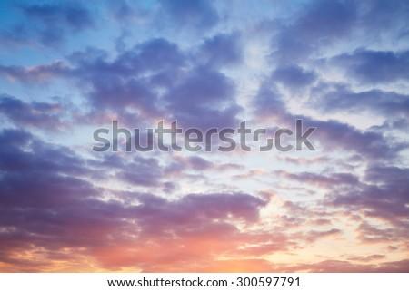 Beautiful evening cloudy sky