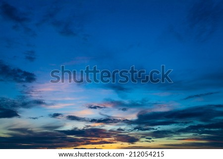 Beautiful evening sky with clouds