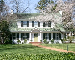 Beautiful exterior house in rural suburban neighborhood. Charlotte, North Carolina, South Carolina, architecture