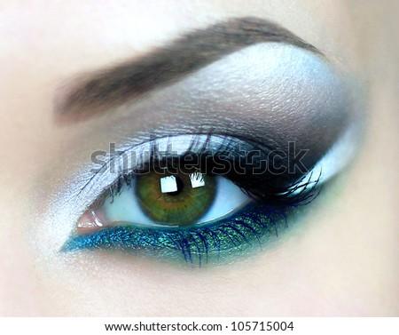 Beautiful eyes - stock photo