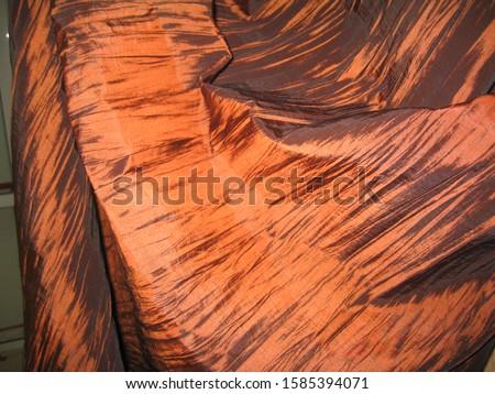 beautiful fabric drapery with macro shot