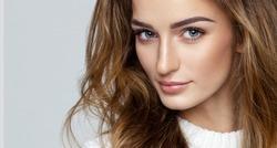 Beautiful face of female model