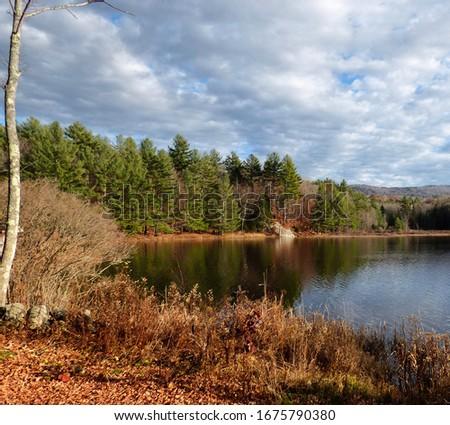 Beautiful fall foliage scenes in Goshen, New Hampshire.
