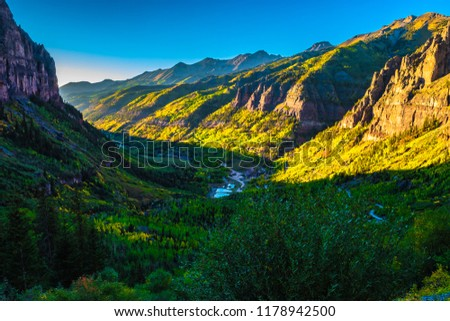 Beautiful Fall Sunset Hike in Telluride Colorado #1178942500