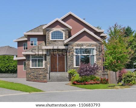 Beautiful family house in suburban