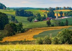Beautiful farmland in the Ohio countryside