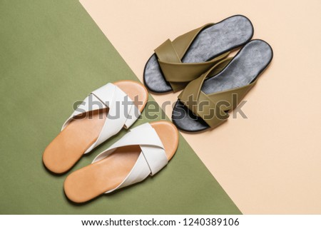 56704e176 beautiful fashion female and woman leather sandals