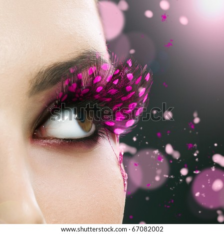 Beautiful Fashion Holiday Makeup - stock photo