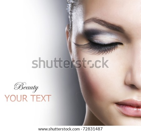 Beautiful Fashion Luxury Makeup - stock photo