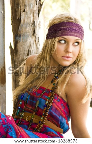 beautiful fashion model portrait - stock photo
