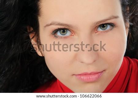 Beautiful Fashion Woman Face closeup