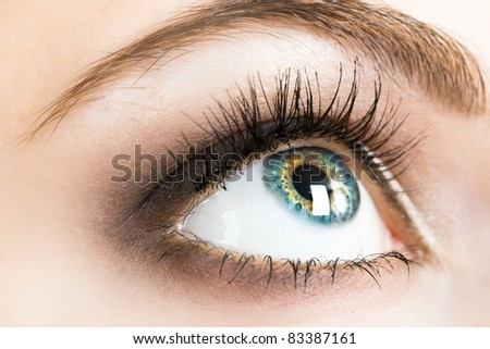 Beautiful female eye close up