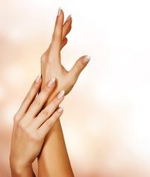 Beautiful Female Hands.Manicure concept
