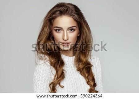 Beautiful female model face