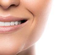 Beautiful female smile with white teeth