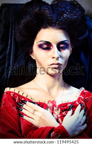 beautiful female chinese vampire