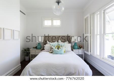 Beautiful feminine country styled master bedroom #776762020