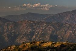 Beautiful fields of rice on trekking in Annapurna Cirquit, Nepal.