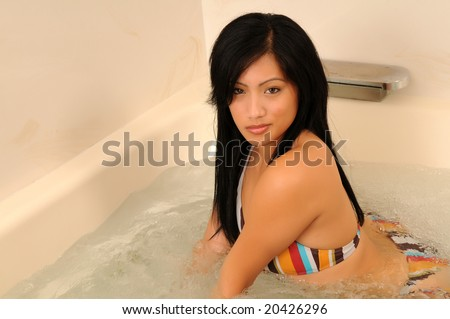 stock photo beautiful filipino girl in a bikini in a jacuzzi 20426296 Tube 8 :: Free Shemale Porn Videos   Hot Tranny Sex Tube Movies