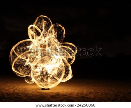 Beautiful fire dance