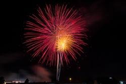 beautiful fireworks in newyear