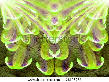 beautiful floral abstract ornament textured background, curly lines multicolored texture backdrop