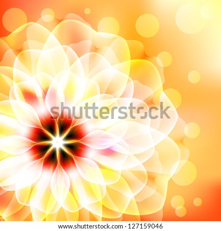 Beautiful floral card. Raster copy of vector image. Raster copy of vector image