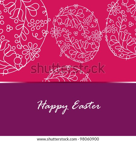 Beautiful floral Easter eggs illustration