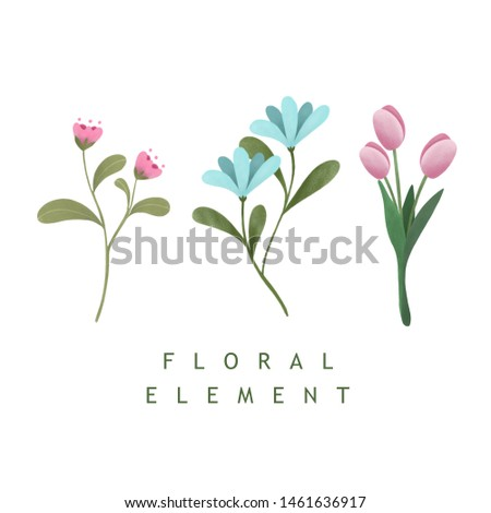 Beautiful floral flower isolated on white background. For wedding, birthday, festival or greeting cards.