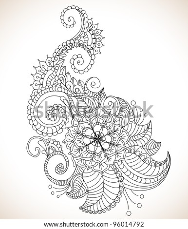 Beautiful floral pattern, illustration