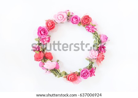 Beautiful Flower circle on white background #637006924