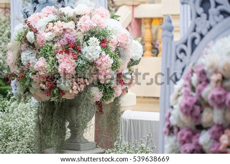 Free Photos Decoration Of Wedding Ceremony Flowers In Greek Vase
