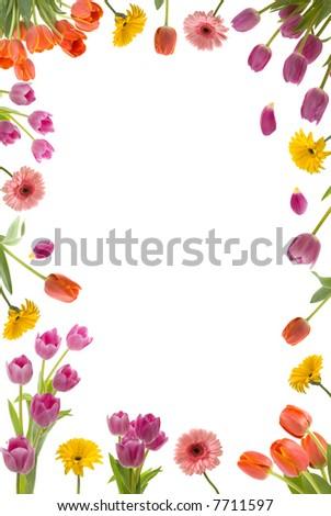 Beautiful flower frame