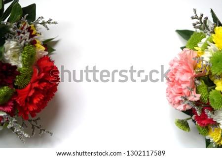 Beautiful flower on white background. #1302117589