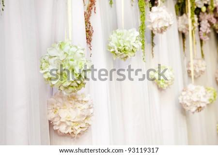 Beautiful flower wedding decoration - stock photo