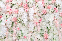 Beautiful flowers background for wedding scene.