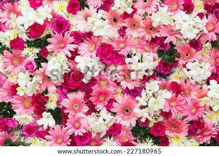 stock photo beautiful flowers background for wedding scene 227180965 - Каталог — Фотообои «Цветы»