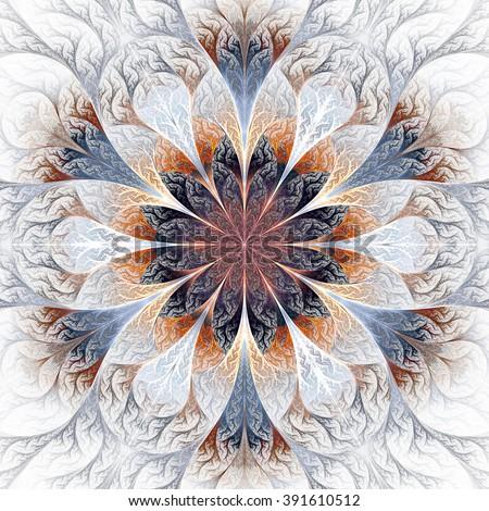 beautiful fractal flower in...