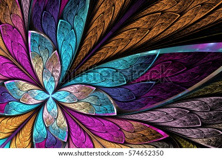 beautiful fractal flower or...