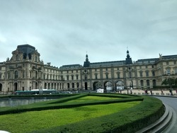 Beautiful french architecture in overcast condition