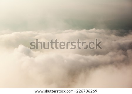 Beautiful from the nature with fog and cloud