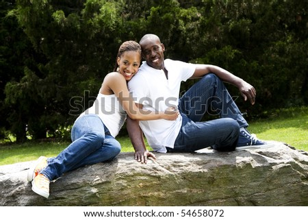 White American Couple African American Couple in