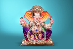 Beautiful Ganesha idol, ganpati festival
