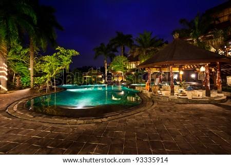Beautiful Garden at Night
