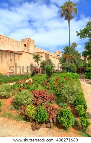 Beautiful garden from the Kasbah of the Udayas, Rabat, Morocco