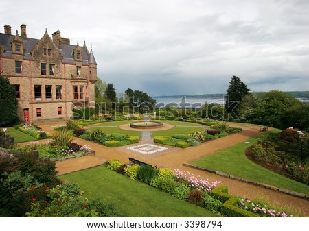 beautiful gardens at Belfast Castle, Belfast,Ireland