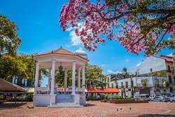 Beautiful gazebo in Plaza de la Catedral located in Casco Antiguo, Panama