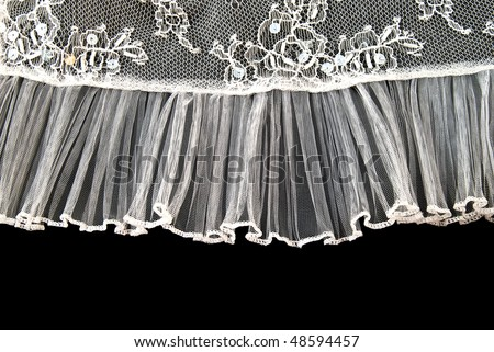 Beautiful gentle lace on a black background