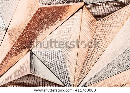 Beautiful geometric three dimensional metal abstract in studio #411760000